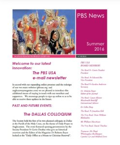 PBS Summer 16 Newsletter cover